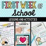 First Week Of School And First Day Of School Activities By