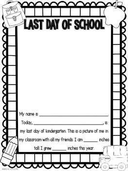 First and Last Day of School Self Portrait by Julie Shope