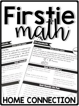 FirstieMath® First Grade Math Curriculum Home Connection