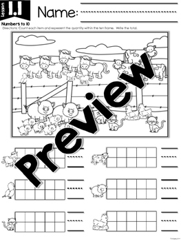 FirstieMath® First Grade Math Unit One: Numbers to 10 by