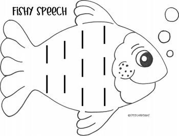 Fish Circle Speech Therapy Craft {language & articulation