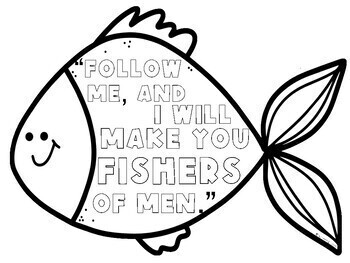 Loudlyeccentric: 35 Fishers Of Men Coloring Sheet