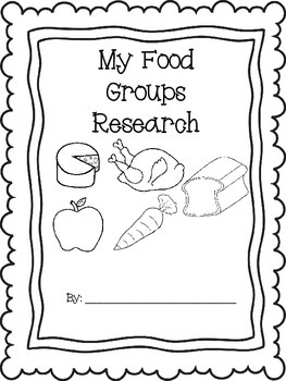 Five Food Groups Expository Research Writing by Fit for