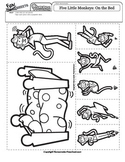 5 Little Monkeys Jumping On The Bed Worksheets & Teaching