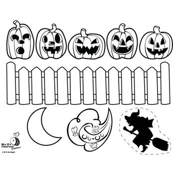 Five Little Pumpkins Story Time Printable by Mrs Bs