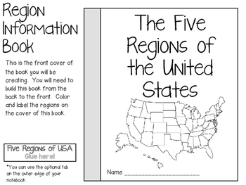 Five Regions of the United States ~ Social Studies