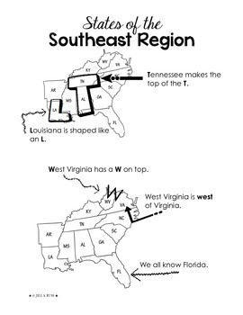 Regions of the United States: Southeast, Study Guide (5