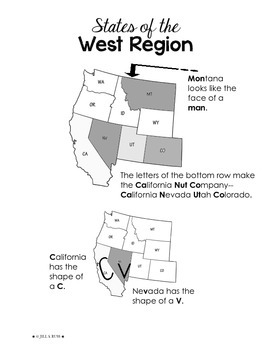 Regions of the United States: West, Study Guide (5 Regions