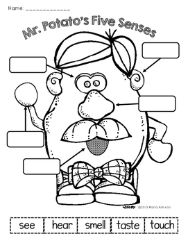 Five Senses with Mr. and Mrs. Potato Head by Marta Almiron