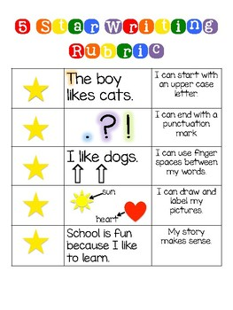 Five Star Writing Rubric And Paper By Colleen Collier TpT