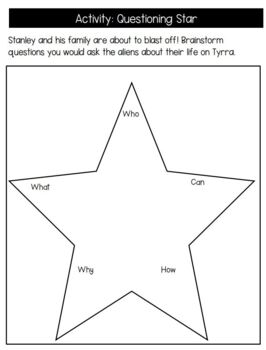 Flat Stanley in Space Reading Response Activities