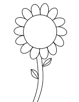 Flower Template for Art Project Flower Coloring Page