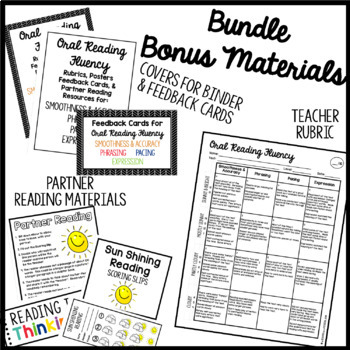 Fluency File Bundle: Rubrics, Posters, Feedback Cards and