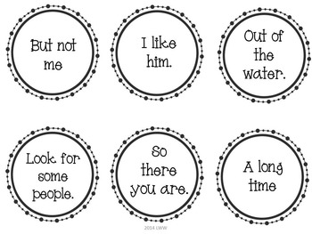 Sight Word Fluency Phrases Set 1 by Literacy Without
