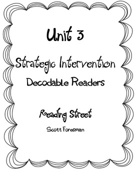 Fluency Sentences for Unit 3 Strategic Decodable Readers