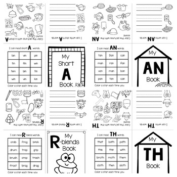 Fold It Books: Short Vowels, Digraphs and Blends by Renee