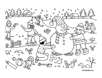 WINTER WORKSHEET: Following Multi-Step Directions by The