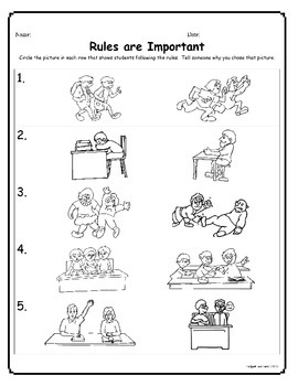 Rules are Important! by Helps4Teachers