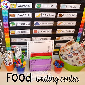 Food and Nutrition Math  Literacy Centers for Preschool PreK  Kindergarten