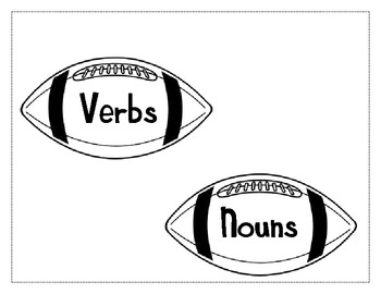 Football Theme Noun and Verb Sort by Sailing Through the
