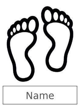 Footprint Printable w/Student's Name to Line Up at the