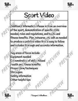 For Any Sport Cooperative Learning Project: Video