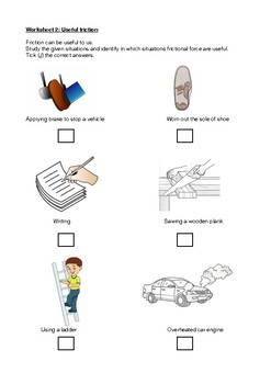 Force: Friction ( Worksheet and Topic Test) by