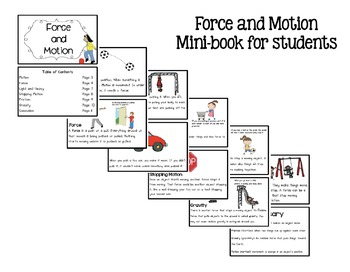 Force and Motion Mini-unit for Primary Students by Sarah