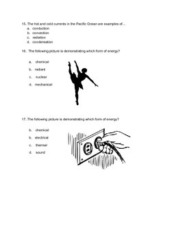 Forms of Energy and Energy Transfer Quiz by Medina-Made