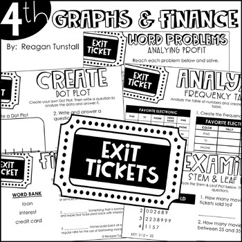 Fourth Grade Bundle Data, Graphs, and Personal Finance by