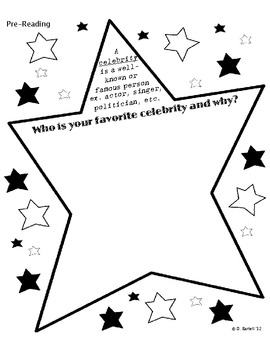 Fourth Grade Celebrity Reading Comprehension/Activities by