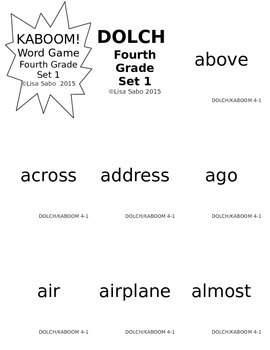 Fourth Grade DOLCH Words Practice and Games by Mrs Sabo