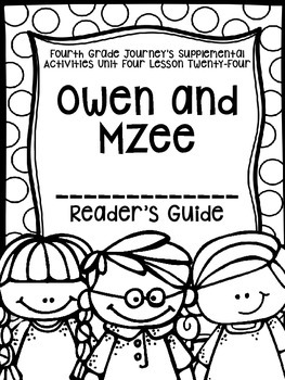 Fourth Grade Journey's Activities: Owen and Mzee (Lesson
