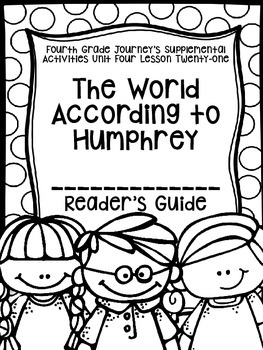 Fourth Grade Journey's Activities: The World According to