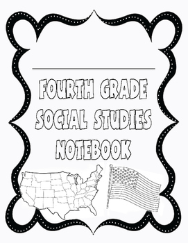 Fourth Grade Social Studies Interactive Notebook Cover