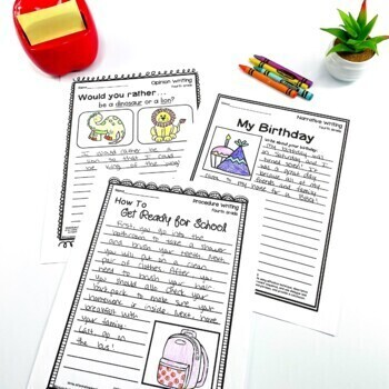 Fourth Grade Writing Worksheets/Prompts Bundle (Opinion