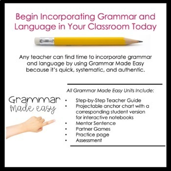 Fourth and Fifth Grade Grammar (Types of Sentences) by