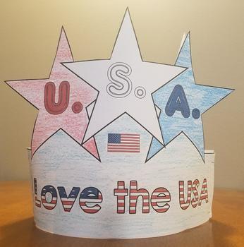 Fourth Of July Hat Craft By Faith N Firsties Teachers Pay Teachers