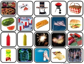 Fourth of July Words MatchingMemory GameFlashcards for