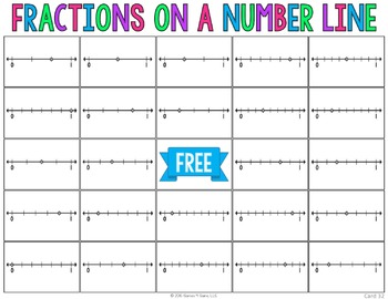 Fractions On A Number Line Bingo Game 3 2 3 2a 3