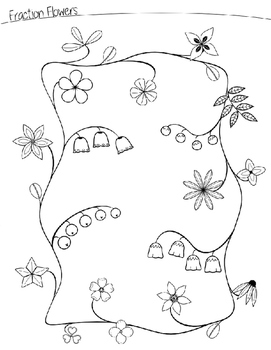 Fraction Flowers Math Worksheet Answers. Fraction. Best