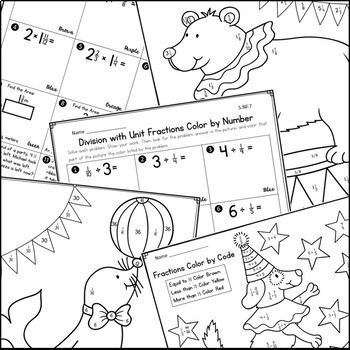 Fraction Operations Coloring Activities by Live Laugh Math