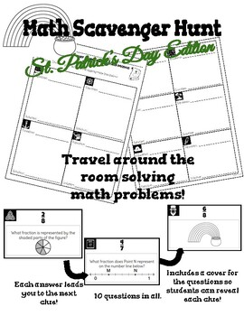 Fractions Scavenger Hunt (St. Patrick's Day Edition) by