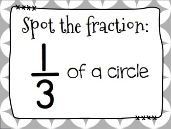 FRACTIONS Word Wall and Spot It & Steal It Math Game! by