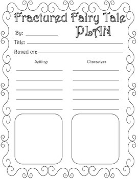 Fractured Fairy Tale Graphic Organizers by Nicole King