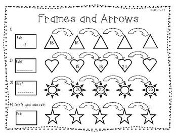 Frames And Arrows Worksheets For Kindergarten. Frames