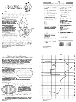Francisco Coronado Spanish Explorer Interactive Notebook