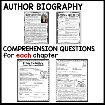 Freak the Mighty by Rodman Philbrick UNIT PLAN- questions
