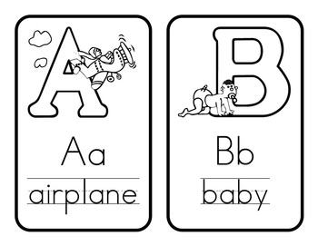 {Free} Black and White Alphabet Cards! by Mr Mosley's
