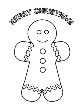 Christmas Activities Gingerbread Christmas Coloring